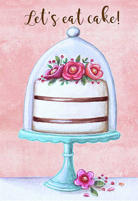 Painting - Let's Eat Cake by Elizabeth Robinette Tyndall
