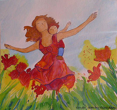Painting - Let's Fly  by Gioia Albano