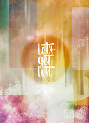 Multicolored Mixed Media - Let's Get Lost by Jacky Gerritsen