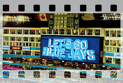Photograph - Let's Go Blue Jays Let's Play Ball by Nina Silver