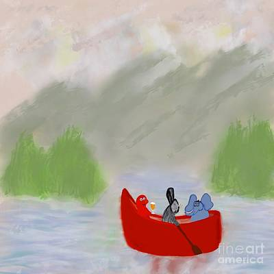 Photograph - Let's Go Canoeing  by Susan Garren
