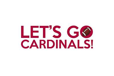 Painting - Let's Go Cardinals by Florian Rodarte