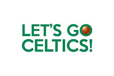 Painting - Let's Go Celtics by Florian Rodarte