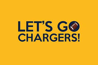 Painting - Let's Go Chargers by Florian Rodarte