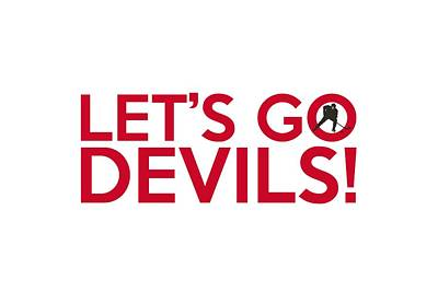 New Jersey Devils Wall Art - Painting - Let's Go Devils by Florian Rodarte