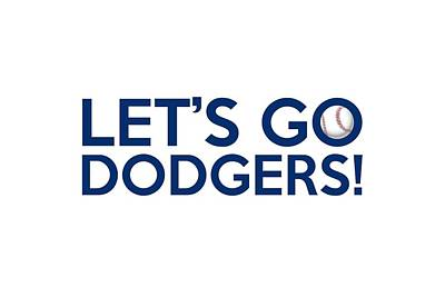 Painting - Let's Go Dodgers by Florian Rodarte