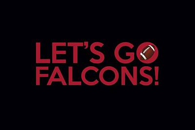 Painting - Let's Go Falcons by Florian Rodarte