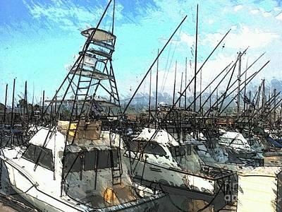 Sailfish Mixed Media - Let's Go Fishing by Jennifer Capo