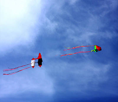 Photograph - Let's Go Fly 2 Kites by Marie Jamieson