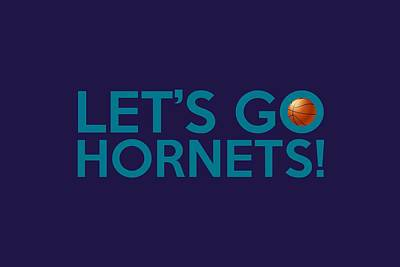 Nba Painting - Let's Go Hornets by Florian Rodarte