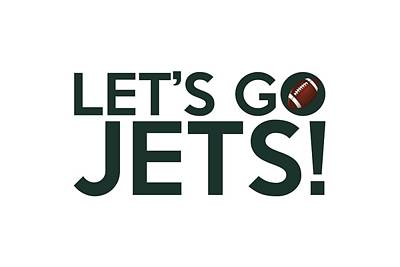 Painting - Let's Go Jets by Florian Rodarte