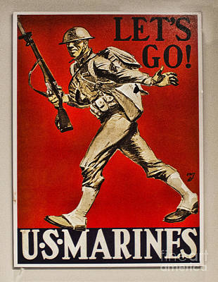 Photograph - Lets Go Marines by Steven Parker