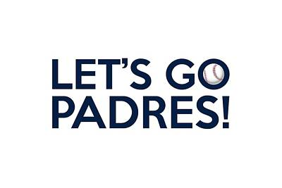 Painting - Let's Go Padres by Florian Rodarte