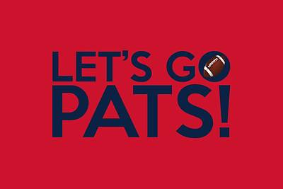 Painting - Let's Go Pats by Florian Rodarte