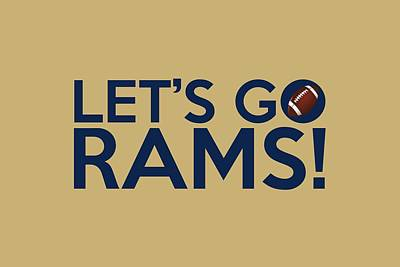 Painting - Let's Go Rams by Florian Rodarte