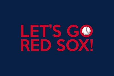 Bat Digital Art - Let's Go Red Sox by Florian Rodarte