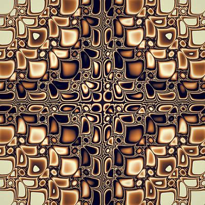 Fractal Geometry Digital Art - Lets Go Retro by Sharon Lisa Clarke