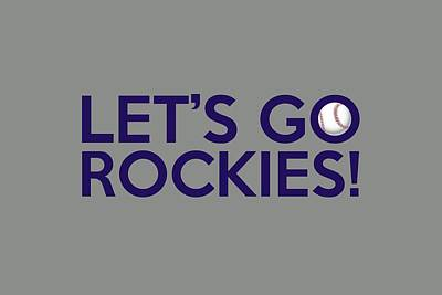Painting - Let's Go Rockies by Florian Rodarte