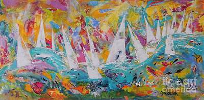 Painting - Lets Go Sailing by Lyn Olsen