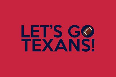 Painting - Let's Go Texans by Florian Rodarte