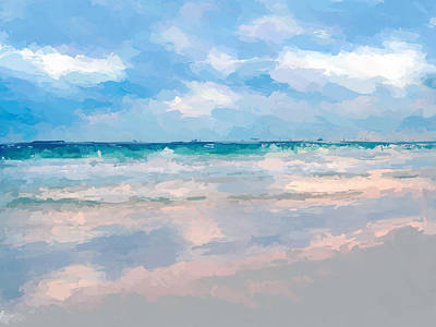 Mixed Media - Lets Go To The Beach by Anthony Fishburne