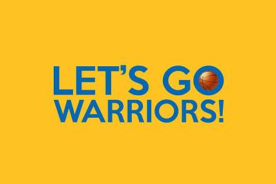 Painting - Let's Go Warriors by Florian Rodarte