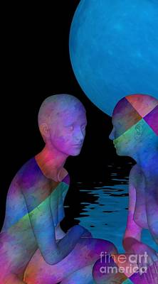 Digiart Digital Art - Let's Have Al Little Talk by Issabild -