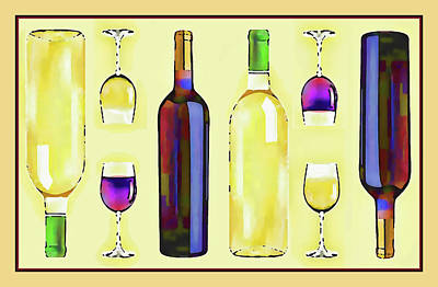 Let's Have Some Wine Art Print