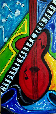 Painting - Let's Jam by Karen Day-Vath