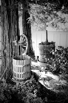 Photograph - Lets Make Wine B And W by Joyce Dickens