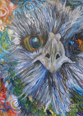 Emu Mixed Media - Let's Party by Kathryn Launey