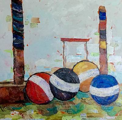 Painting - Let's Play Croquet by Phiddy Webb