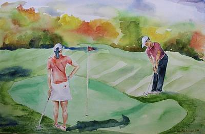 Painting - Let's Play Golf by Geeta Biswas