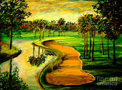 Let's Play Golf Art Print by Patricia L Davidson