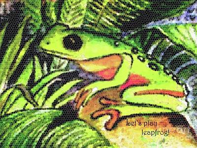 Painting - Let's Play Leap Frog by Hazel Holland