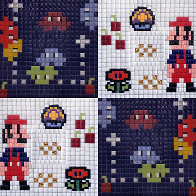 Lets Play Mosaic Art Print by Orlando Doncel
