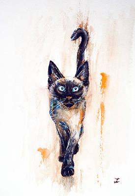 Painting - Let's Play by Zaira Dzhaubaeva