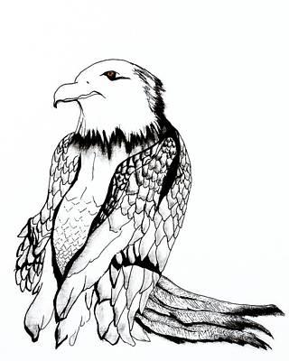 Mixed Media - Let's Prey Eagle by Ayasha Loya