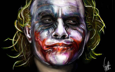 Heath Ledger Wall Art - Painting - Let's Put A Smile On That Face by Vinny John Usuriello