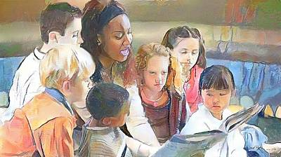 Painting - Let's Read by Wayne Pascall