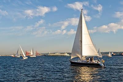 Lets Sail Art Print by Tom Dowd