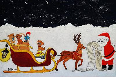 Painting - The Christmas List by Joseph Frank Baraba
