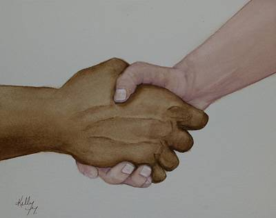 Painting - Let's Shake Hands On It by Kelly Mills