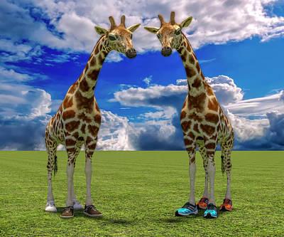 Surrealism Digital Art - Lets Shape Up by Betsy Knapp