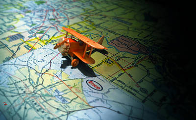 Toy Planes Photograph - Let's Take A Trip by Adam Vance