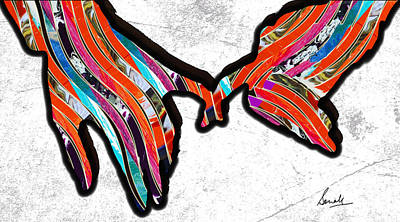 Painting - Let's Walk Together by Sonali Kukreja