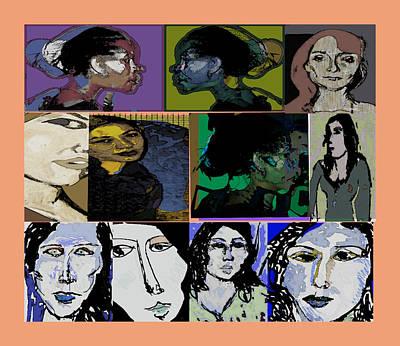 Lets's Make Faces Art Print by Noredin Morgan