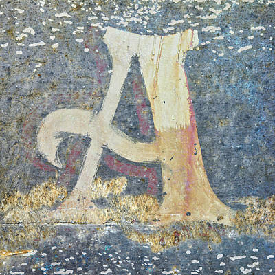Mixed Media - Letter A A La Monet by Carol Leigh