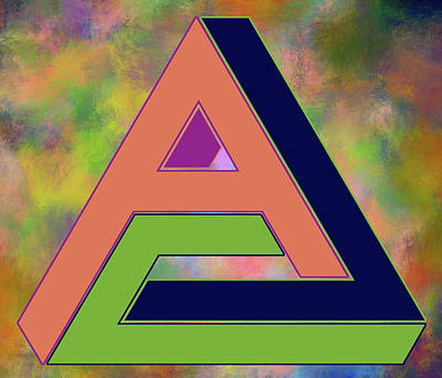 Digital Art - Letter A Illusion by Ericamaxine Price