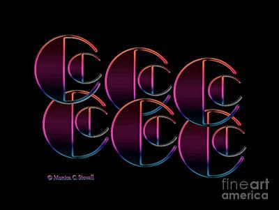 Digital Art - Letter Art L5 - Cs by Monica C Stovall